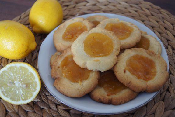 Ciasteczka cytrynowe (z lemon curd)
