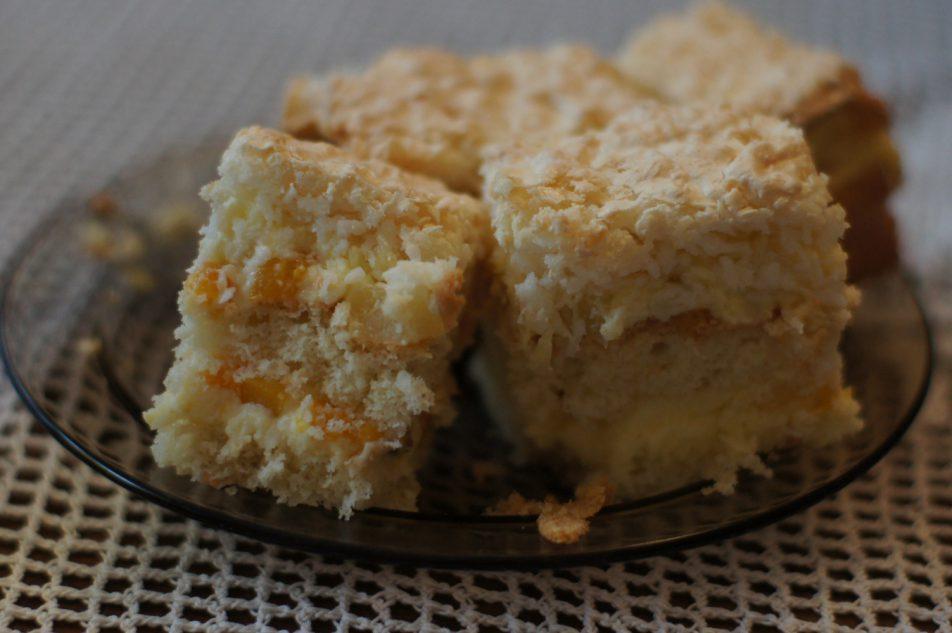 Ciasto ananasowo-brzoskwiniowe