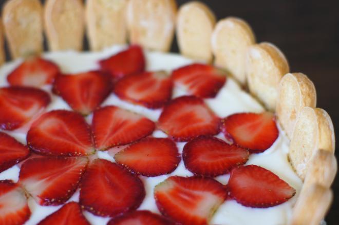 Ciasto ztruskawkami imascarpone