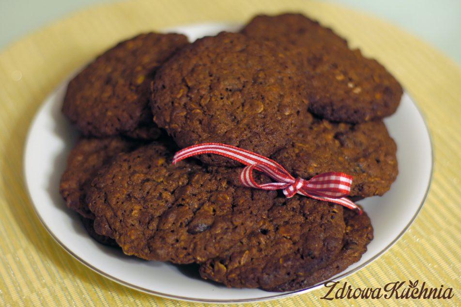 Czekoladowe ciasteczka zpłatkami owsianymi