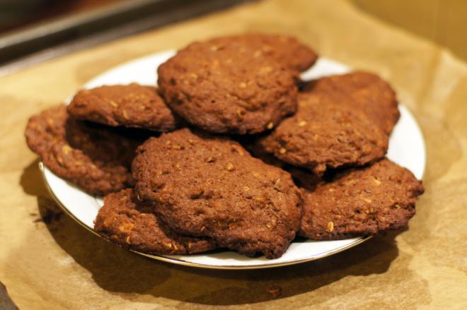 Kakaowe ciasteczka zziarnami