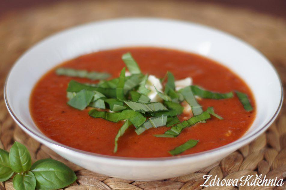 Krem zpieczonych pomidorów zmozzarellą