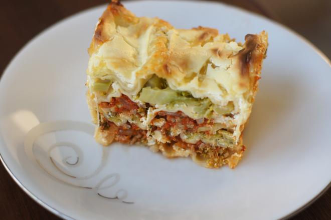 Lasagne zbrokułami