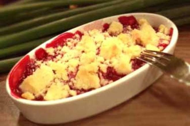 Maliny pod kruszonką – ekspresowy deser
