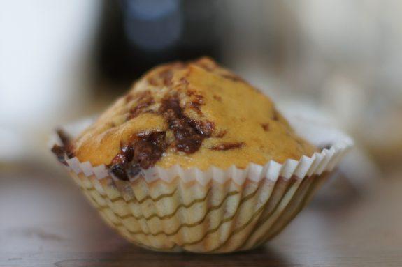 Muffinki bananowe zczekoladą