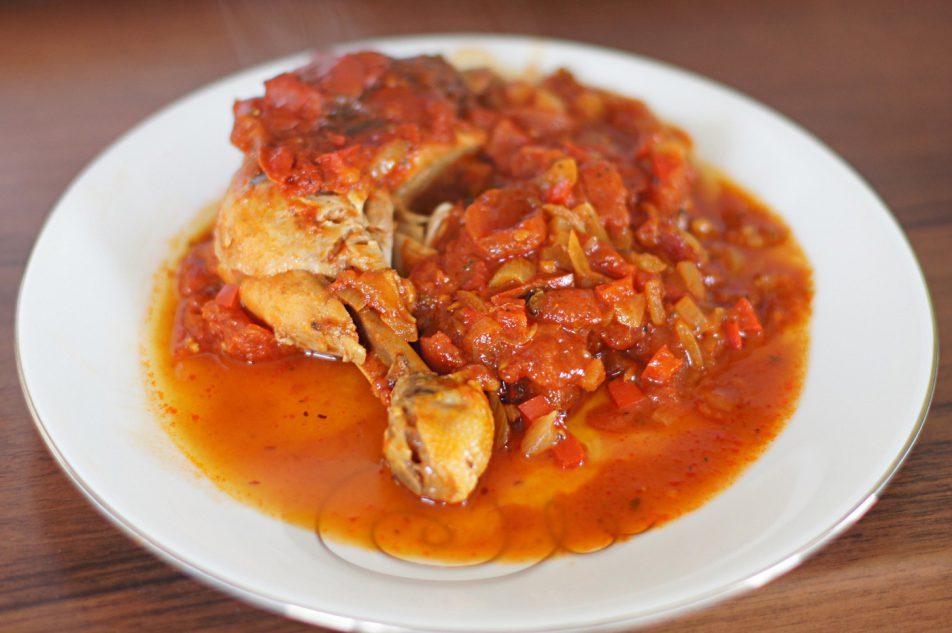 Udka zkurczaka wpomidorach