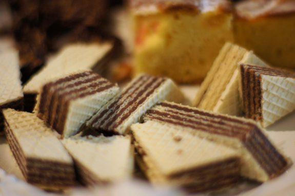 Wafle znadzieniem kakaowym