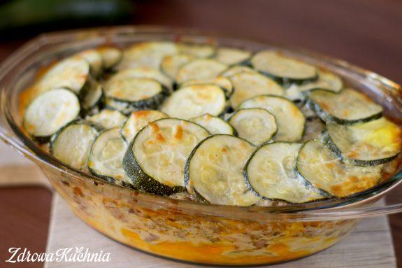 Zapiekanka zmłodych ziemniaków icukinii