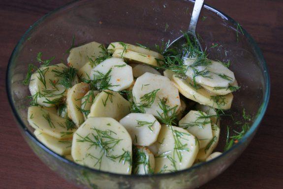Ziemniaki pieczone zkoperkiem