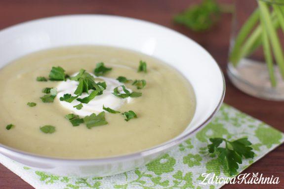 Zupa krem zziemniakami ibobem