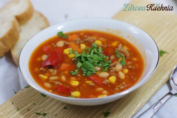 Zupa meksykańska zmięsem mielonym
