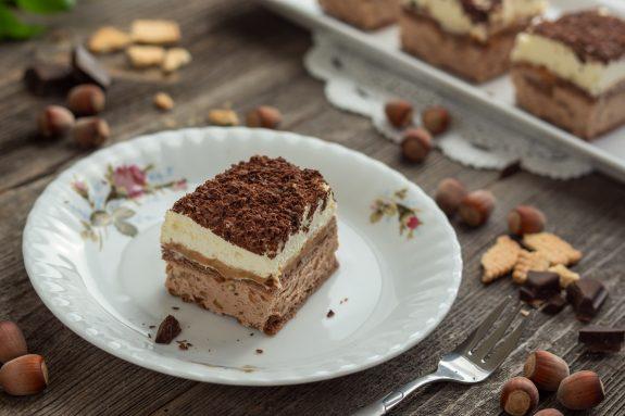Ciasto kakaowo-orzechowe bez pieczenia